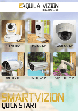 PTZ HD 720P MINI HD 720P PRO HD 720P STREET HD 720P FIX