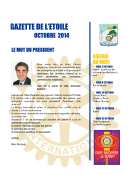 Gazette octobre 2014