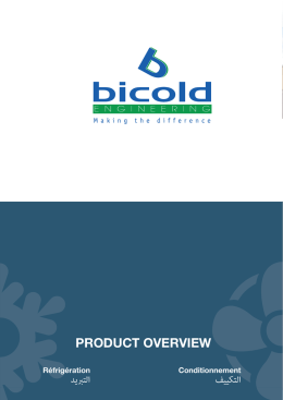 PRODUCT OVERVIEW - Bicold Engineering