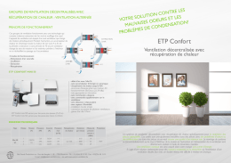 Flyer ETP Confort - Veneco Ventilation