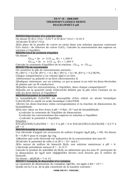 TD N° 10 - REACTIVITE EN CHIMIE ORGANIQUE
