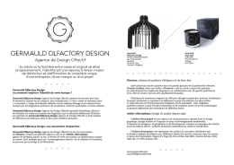 Press kit FR - Germauld Olfactory Design