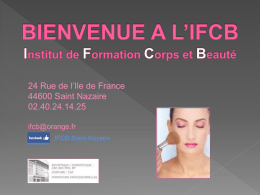 Diaporama FORMATION ESTHETIQUE
