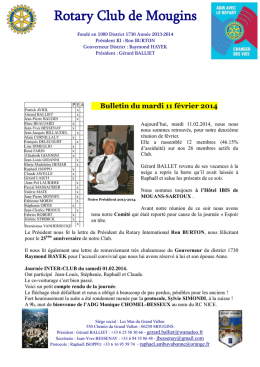 Bulletin du mardi 2 juillet 2013 - Rotary International District 1730
