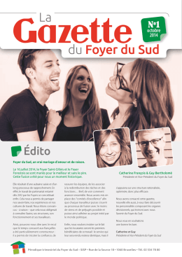 Gazette du Foyer du Sud n°1