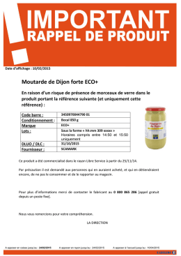 Moutarde de Dijon forte ECO+
