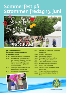 Program Sagelvafestivalen 2014