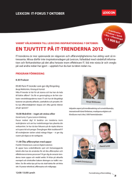 ladda hem programmet - LEXICON IT