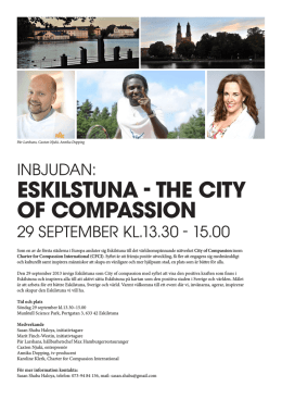 ESKILSTUNA - THE CITY OF COMPASSION