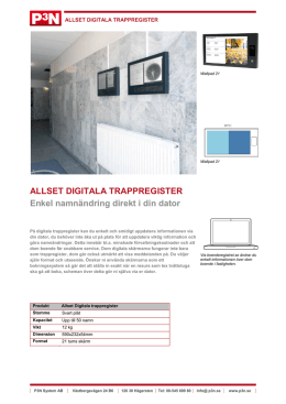 ALLSET DIGITALA TRAPPREGISTER Enkel