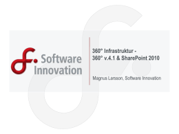 360° Infrastruktur - Software Innovation