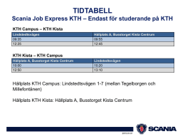 Tidtabell Scania Job Express KTH