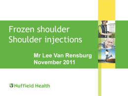 Shoulder update - Cambridge Orthopaedics