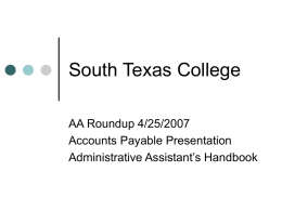 Accounts Payable - The Office of the Vice President for Finance and