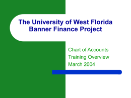 What is an INDEX CODE? - University of West Florida