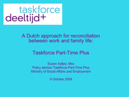 Taskforce DeeltijdPlus