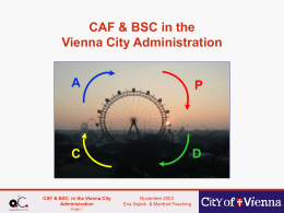 CAF and BSC Vienna
