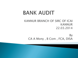 CPE Seminar on Bank Audit relevant file for Download.
