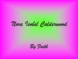 Nora Isobel Calderwood 1