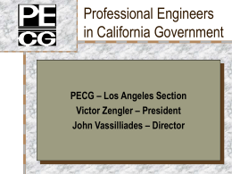 PECG – Los Angeles Section Victor Zengler
