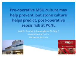 Pre-operative MSU culture may help prevent, but stone