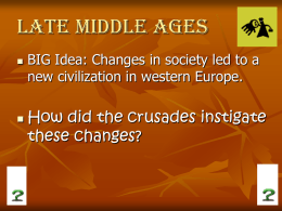 Late Middle Ages - Irving`s World History Wiki
