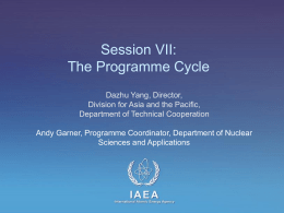 Session VII - International Atomic Energy Agency