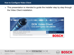 DCN - How to Configure Video Client