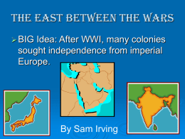 The Inter-War Years - Irving`s World History Wiki