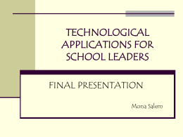 Tech app for school leaders