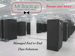 Mr Backup Data Centre Solutions