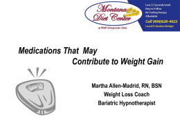 Medications That May Contribute to Weight Gain