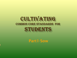 Cultivating Studentsx