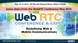 WebRTC Browser and Mobile App Soft Clients