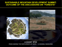 Forests - Sustainable Development Forum Nagaland (SDFN)
