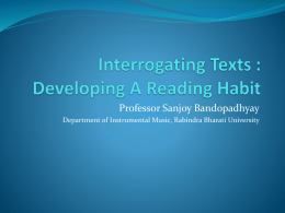 Interrogating Texts : Developing A Reading Habit