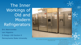 The inner workings of old and modern refrigerators