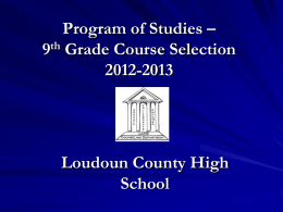 Program of Studies - Loudoun County Public Schools
