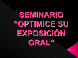 seminario optimice su exposicion oral