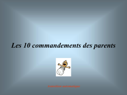 Les 10 commandements des parents - Paroisse Sainte