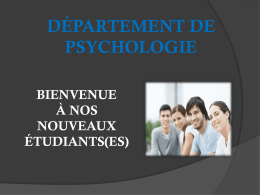 absence - Département de psychologie