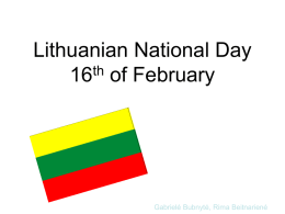 Lithuania National Day 16th of February