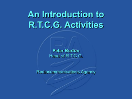 An Introduction to RTCG Activities