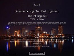 Remembering Our Past Together - Filipino