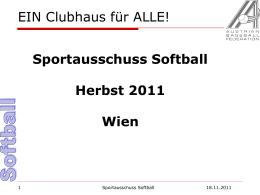 Präsentation Softball