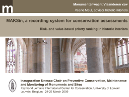 MAKSin, a recording system for preventive conservation