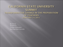 Closing the Achievement Gap - The California State University