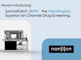 SyncroPatch 384PE - Nanion Technologies