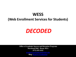 WESS - Blogs @ Montclair State University