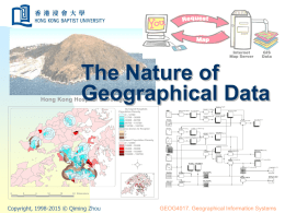 The Nature of Geographical Data